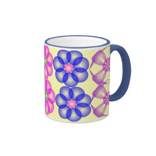 Flores 4 taza de café