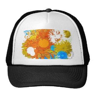 Flores a montones gorras