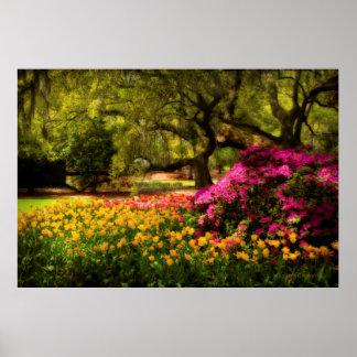Flores a montones póster