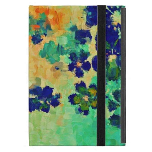 Flores abstractas 2 de la primavera de la pintura  iPad mini carcasa