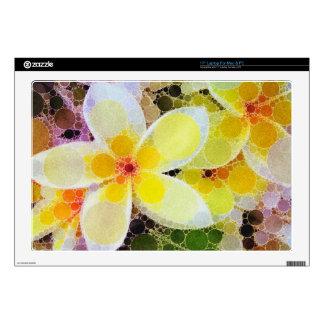 Flores abstractas amarillas portátil 43,2cm skins
