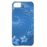 Flores abstractas azules