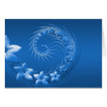 Flores abstractas azules felicitacion