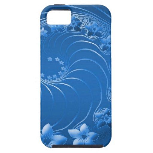 Flores abstractas azules iPhone 5 Case-Mate fundas