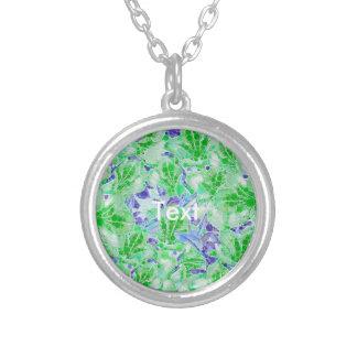 Flores abstractas azulverdes tranquilas colgante redondo