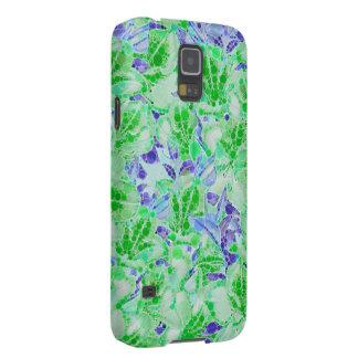 Flores abstractas azulverdes tranquilas funda de galaxy s5