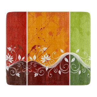 flores abstractas coloridas del vector del tablas para cortar