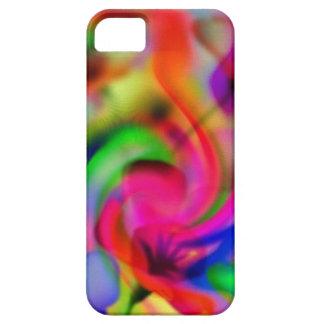 flores abstractas de amapola neonfarben iPhone 5 carcasas