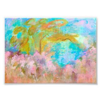 Flores abstractas de la aguamarina del rosa del fotografía