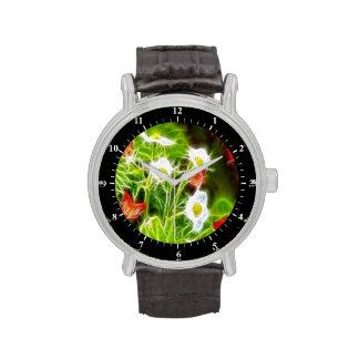 Flores abstractas de la naturaleza del amor del de relojes