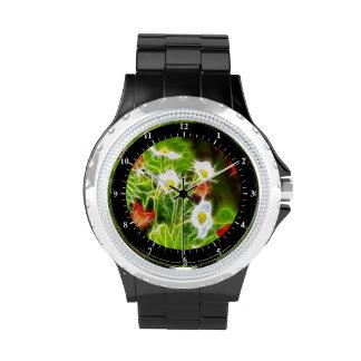 Flores abstractas de la naturaleza del amor del de relojes de mano