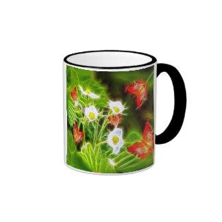 Flores abstractas de la naturaleza del amor del de taza de café