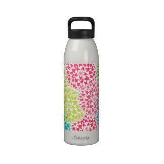 Flores abstractas de la primavera botellas de beber