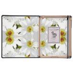Flores abstractas del estilo iPad cárcasas