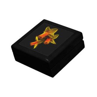 Flores abstractas del narciso caja de joyas