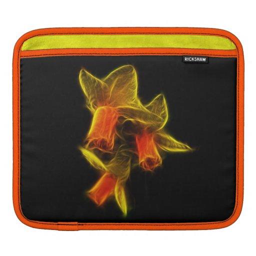 Flores abstractas del narciso mangas de iPad