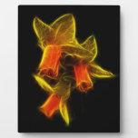 Flores abstractas del narciso placas de plastico