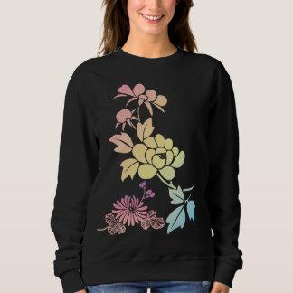 Flores abstractas del vector sudadera