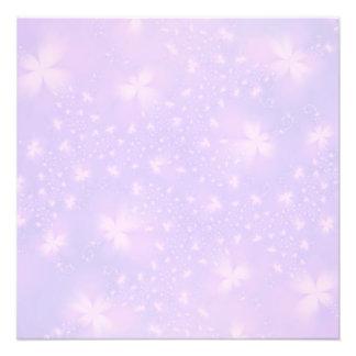 Flores abstractas en lila y la impresión rosada de