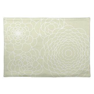 Flores abstractas modernas de marfil del diseño fl mantel