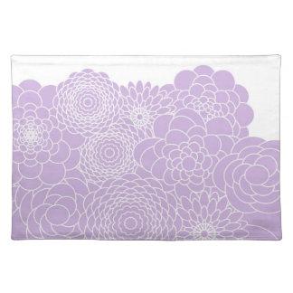 Flores abstractas modernas del diseño floral de la mantel