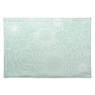 Flores abstractas modernas del diseño floral de la manteles