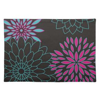 Flores abstractas modernas del diseño floral mantel