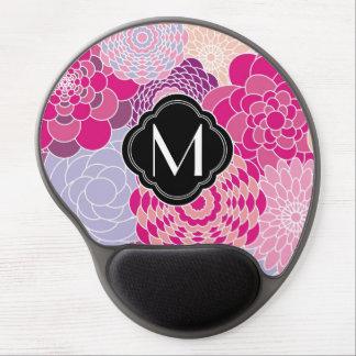 Flores abstractas modernas rosadas del diseño flor alfombrilla con gel