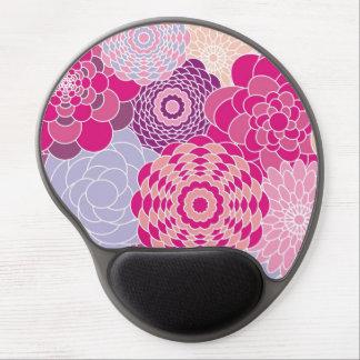 Flores abstractas modernas rosadas del diseño flor alfombrillas de ratón con gel