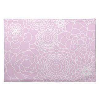 Flores abstractas modernas rosadas del diseño flor mantel