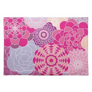 Flores abstractas modernas rosadas del diseño flor manteles