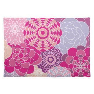 Flores abstractas modernas rosadas del diseño flor mantel individual