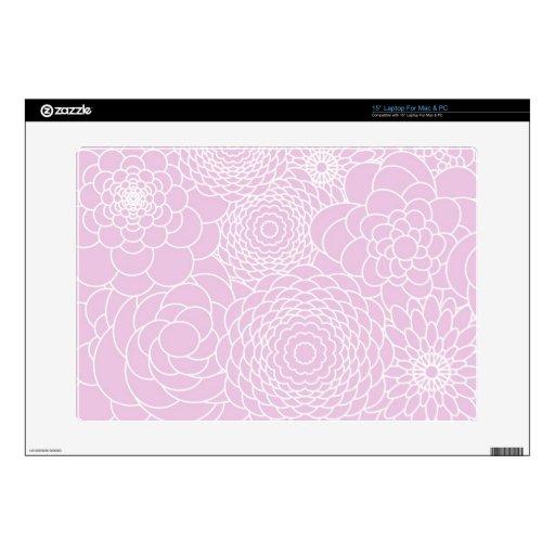 Flores abstractas modernas rosadas del diseño flor calcomanías para 38,1cm portátiles