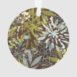 Flores abstractas retras en Brown
