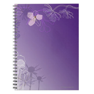 Flores abstractas spiral notebooks