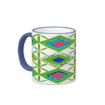 Flores abstractas tazas de café