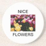 Flores agradables posavasos personalizados