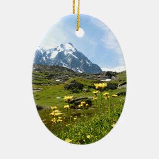 ¡Flores alpinas - hermosas Adornos De Navidad