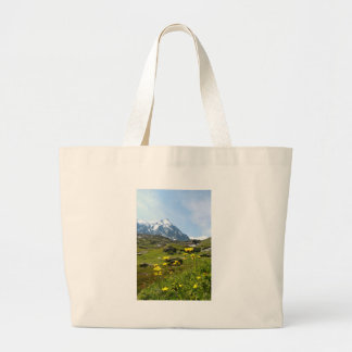 ¡Flores alpinas - hermosas! Bolsa Tela Grande