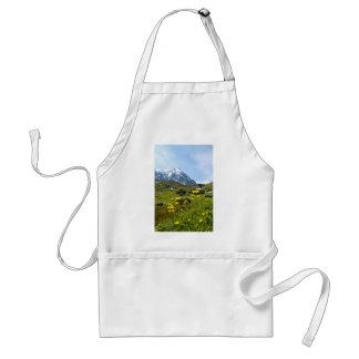 ¡Flores alpinas - hermosas! Delantal