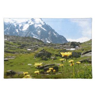 ¡Flores alpinas - hermosas! Mantel Individual