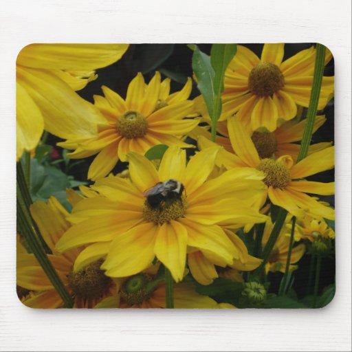 Flores amarillas alfombrilla de raton