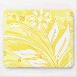 flores amarillas alfombrillas de raton