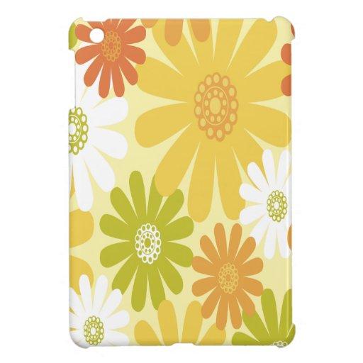 Flores amarillas, blancas y anaranjadas iPad mini fundas