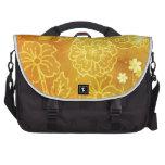 Flores amarillas bolsas para portatil