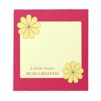 Flores amarillas bonitas bloc de notas