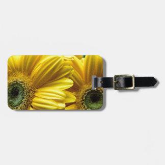Flores amarillas brillantes (regalo) etiquetas bolsas