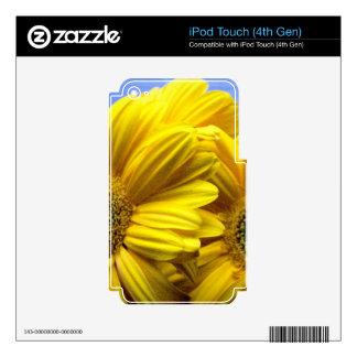Flores amarillas brillantes (regalo) iPod touch 4G calcomanías