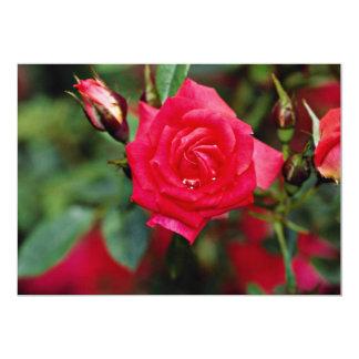 """Flores amarillas color de rosa miniatura de invitación 5"""" x 7"""""""