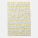 Flores amarillas con diseño gris toallas